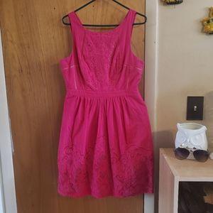 Moulinette soeurs pink floral detail pocket dress